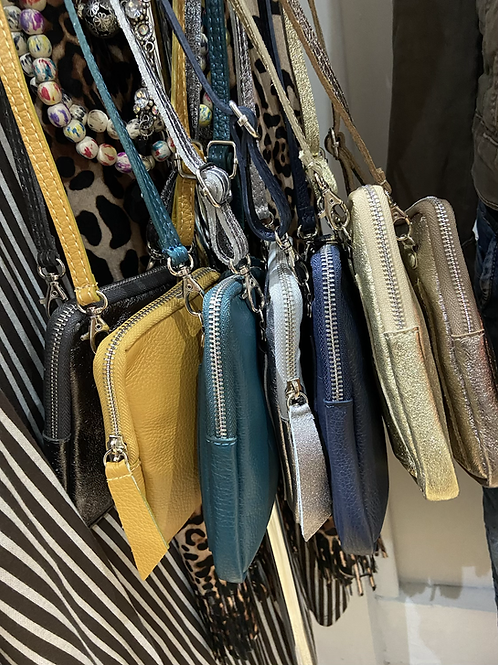 Real leather phone bag choice of colours