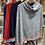Thumbnail: Striped edge Poncho Cashmere mix choice of colours