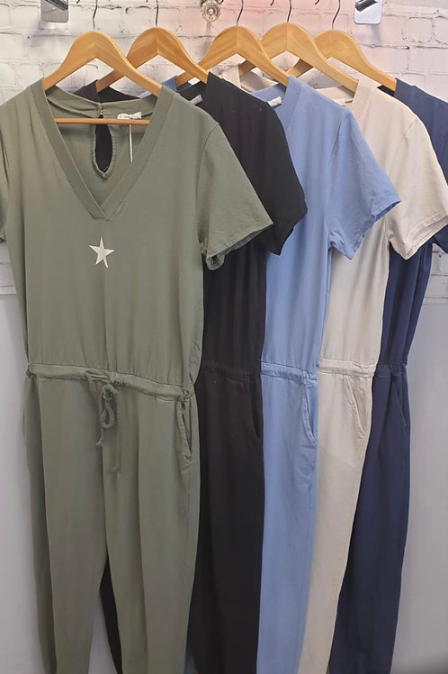 White star spring jumpsuit cotton choice of colours