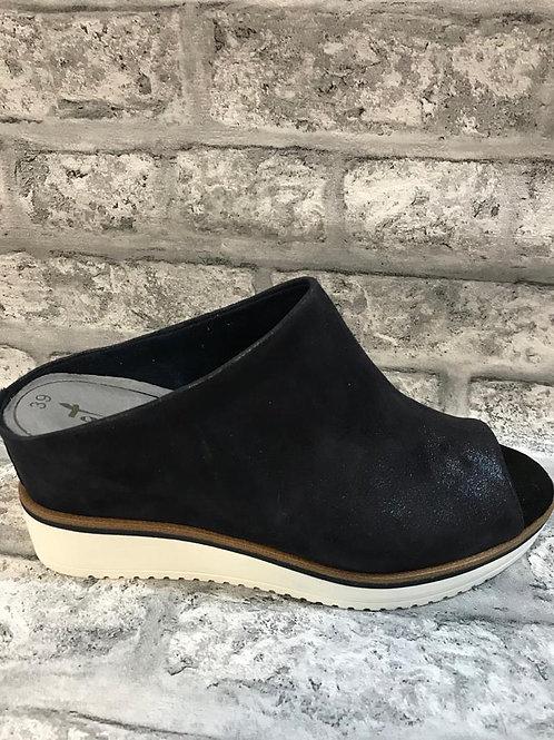 SALE Tamaris Navy Wedge (Real Leather)