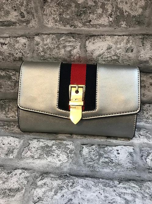 Milan Silver Stripe Bag