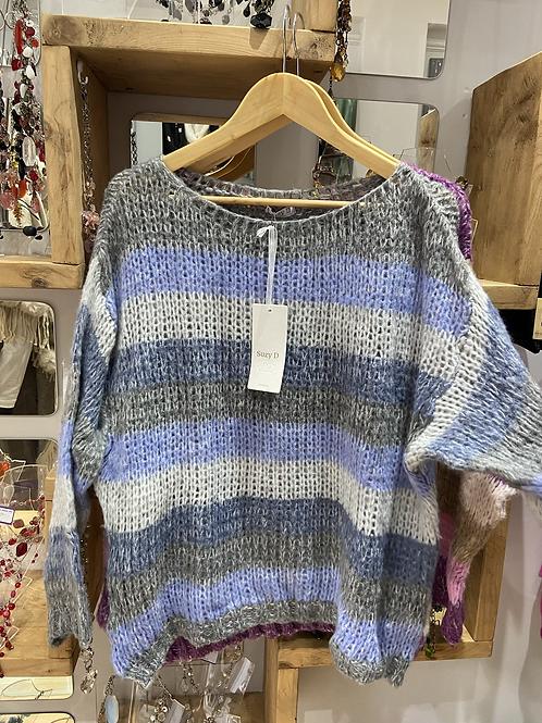 Suzy D blue stripe jumper