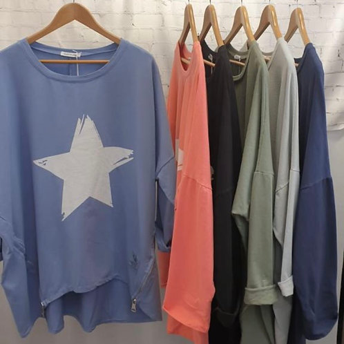 100% Natural Star Tops Cotton choice of colours