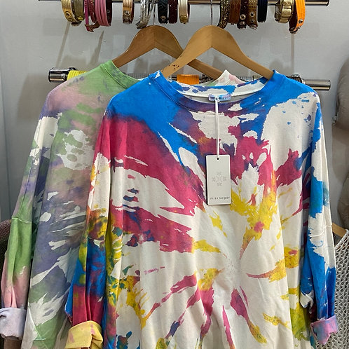 Miss Sugar Tie dye Sweat Top