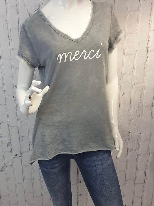 Merci T shirt Cotton choice of colours