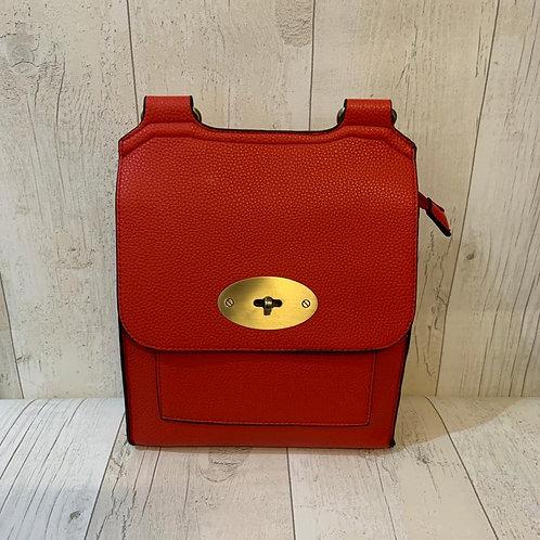 Milan turn clasp crossbody bag In red