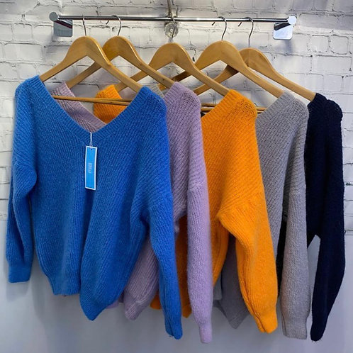 Double V jumper choice of colours