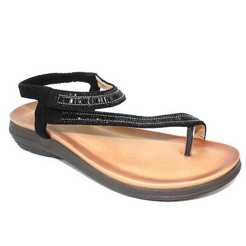 Lunar Black sparkle sandal
