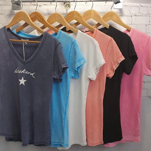 Weekend T shirt Cotton choice of colours