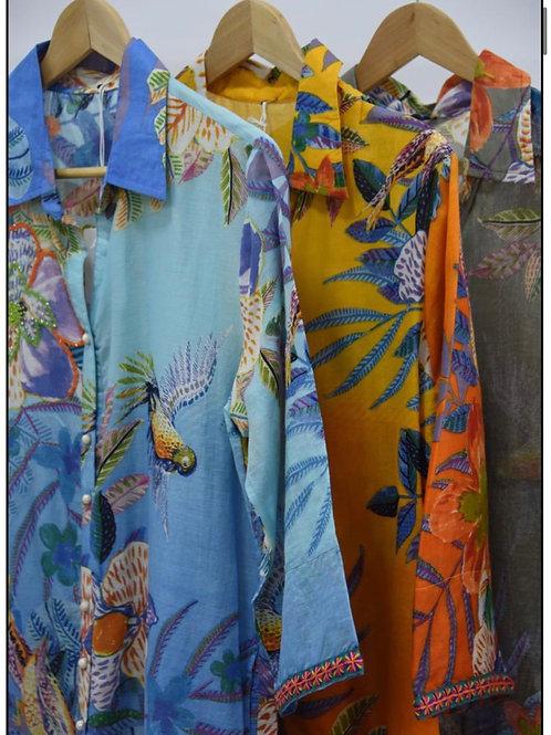 Cotton shirt dress choice of colours