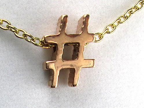 Hashtag Necklace Pendant