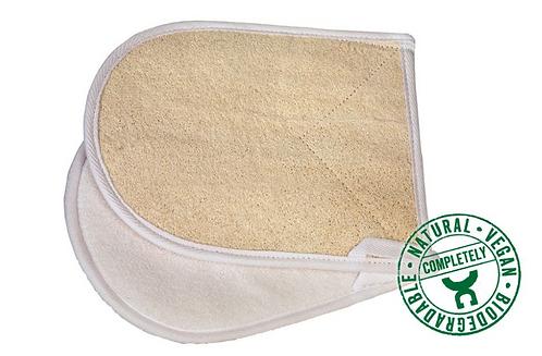 Gant de massage biface loofa/tissu éponge