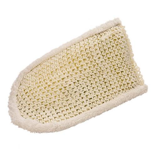 Gant de massage Sisal tricoté tissu