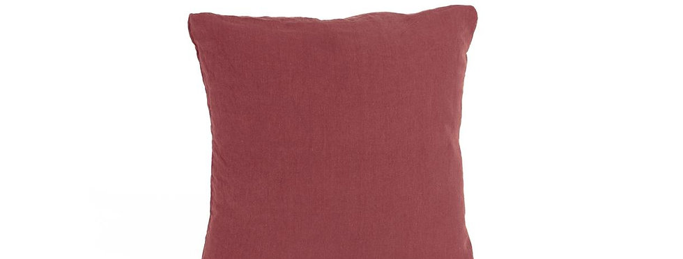 Housse Coussin ROUGE OCRE