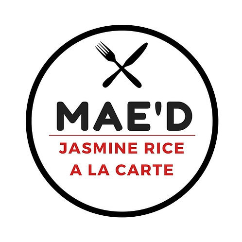 Mae'd Jasmine Rice a la carte, choose from 3 to 9 oz. portions.
