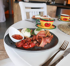 Order a cooked breakfast or our homemade muesli.