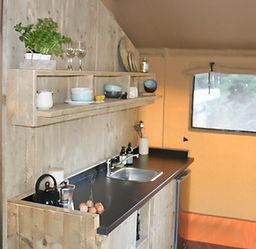 The kitchen - Waipu Glamping