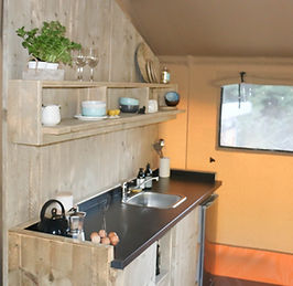 The kitchen - Waipu Glamping