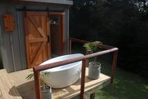 The private outdoor bath.