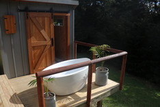 The private outdoor bath.