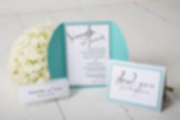 Smitten Paper Designs wedding invitation