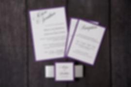 Smitten Paper Designs wedding invitation London, Ontario