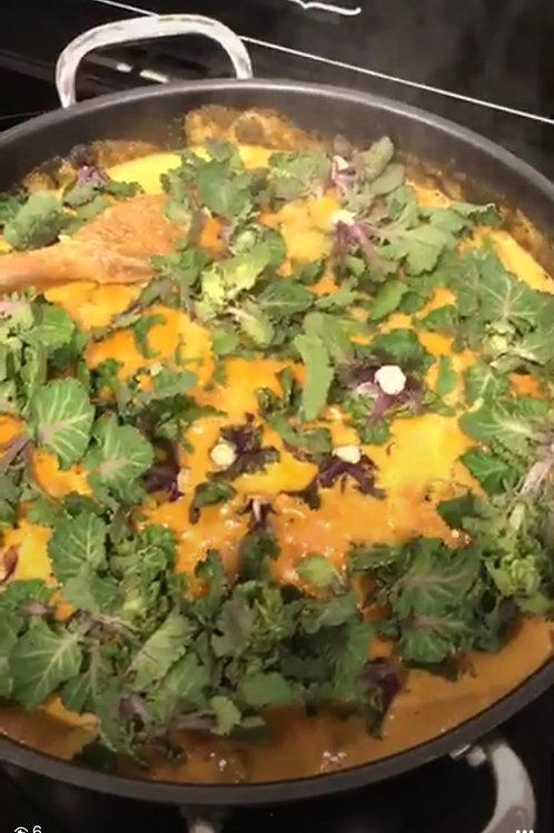 Lentil and Spinach Gratin