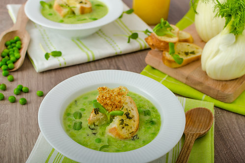 Minty Green Pea, Broadbean & Mint Soup