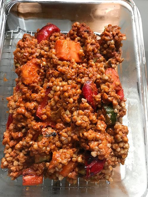 Red Spicy Veggie Buckwheat