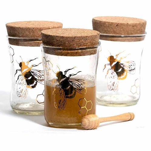 Hand Blown Honey Pots