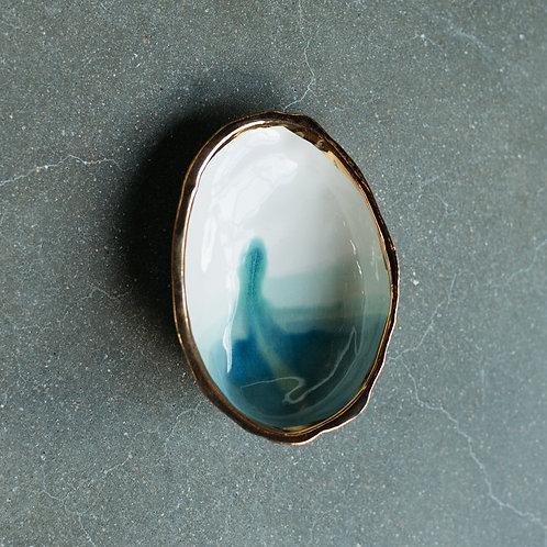 Ceramic Smudge Bowl- 22k Gold