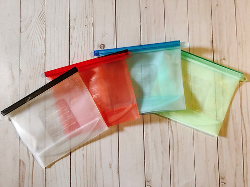 Eco-Friendly Air-tight Silicone Food Storage Bags