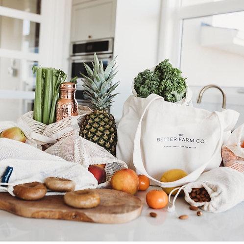 Reusable Grocery Bag- Full set x2
