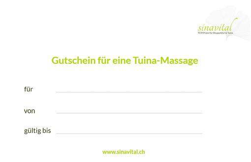 Gutschein Tuina-Massage Luzern