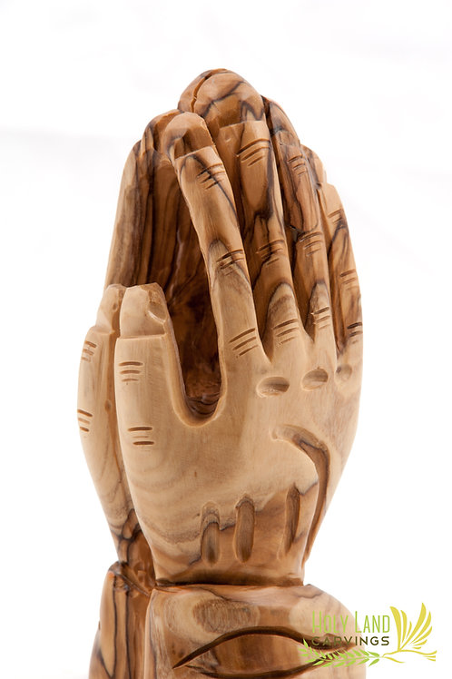 Praying Hands Made of Premium Olive Wood