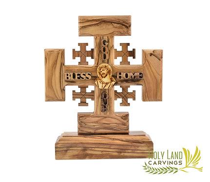 Standing Jerusalem Cross 6X5 Inch Holy Land Cross