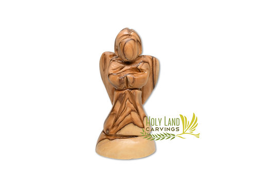 Olive Wood Small Praying Angel