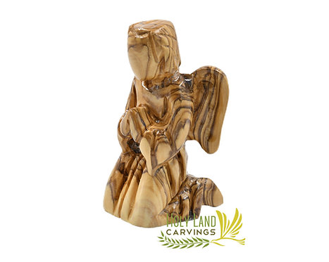 Kneeling Angel Figurine Made of Olive Wood - Praying Angel