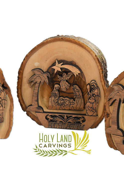Small Wooden Nativity Scene Set Made of Olive Wood