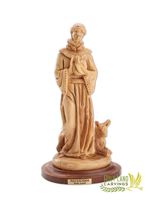 St. Francis Statue - Olive Wood Master Piece