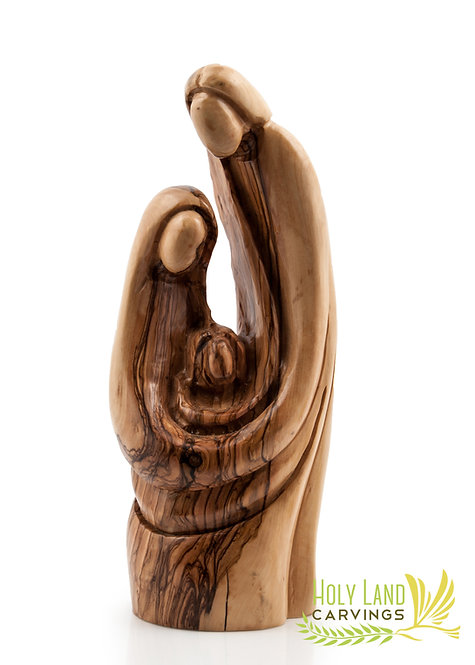 Statue of the Holy Family Made of Olive Wood