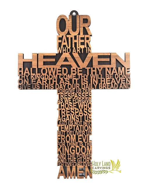 The lords prayer cross, Our Father Wall Cross
