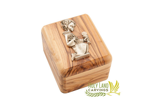 Olive Wood Rosary Box - Perfect gift for first communion and Confirmation