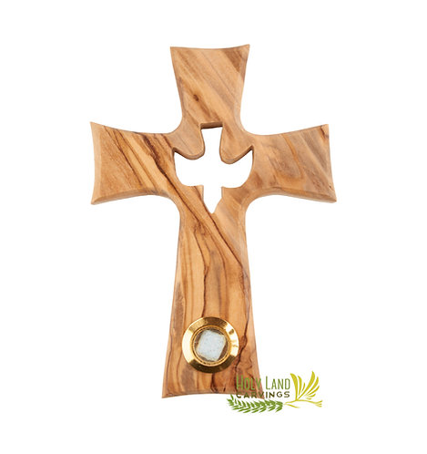 Holy Spirit Cross Made of Premium Olive Wood