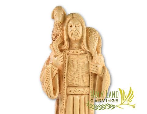 Christ the Good Shepherd Olive Wood Masterpiece