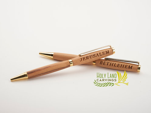 Olive Wood Pen - Hand Turned 5.2 Inches Long Engraved or Plain