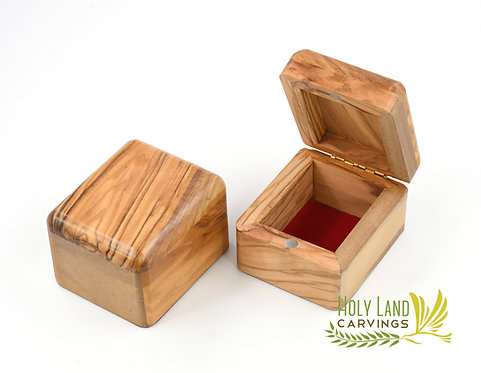 Olive Wood Box, Rosary Box, Jewelry Box, KeepsakeBox