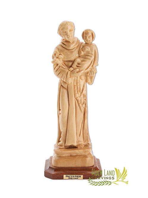 St. Anthony Statue Olive Wood Masterpiece