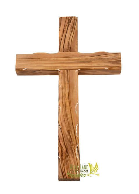 10 Inch Wooden Wall Hanging Cross Made of Olive Wood - Perfect for Kids Room
