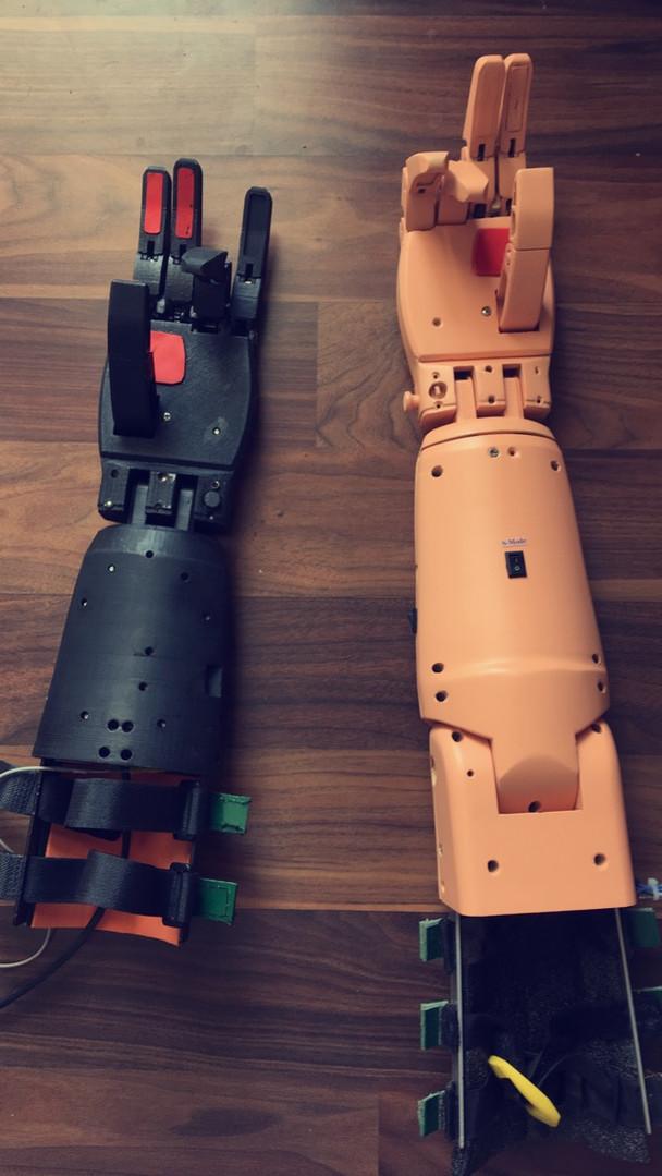The AI - Myoelectric Limbs Prototypes.